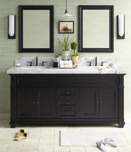 Torino Black Bathroom Vanity From RonBow