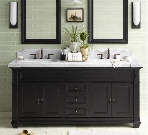 Ordinaire Torino Weathered Black Bathroom Vanity Cabinet From RonBow
