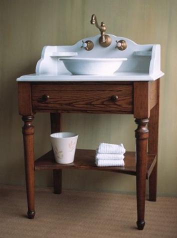 Bathroom Vanities Pre Plumbing Bonne Maman Solid Ash Lavatory Console From Herbeau