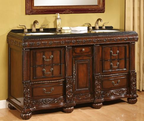 Bradford Antique Double Vanity From B And I Direct - Antique Bathroom Vanities - Building A Lavish Bathroom Design