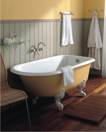 Cast Iron Clawfoots, Like This Retro Tub From Herbeau Are Not Only More  Traditional,