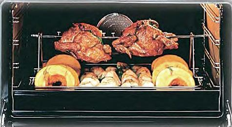 Double Wide Rotisserie Inside An ILVE Oven
