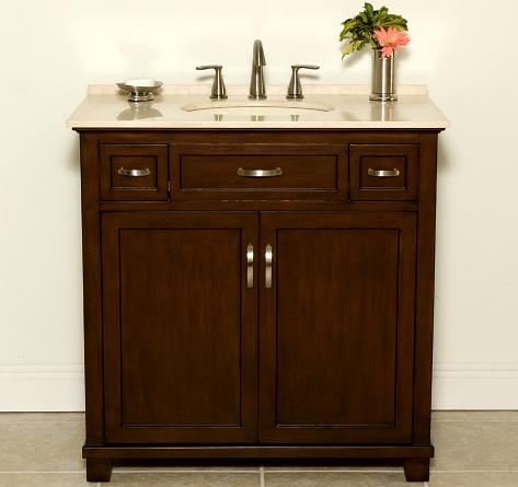 Jackson Bathroom Vanity With Two Drawers From B and I Direct