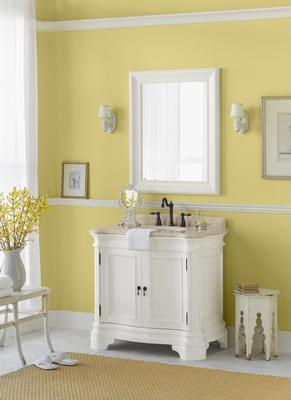 Le Manns 36 Inch White Bathroom Vanity From Ronbow