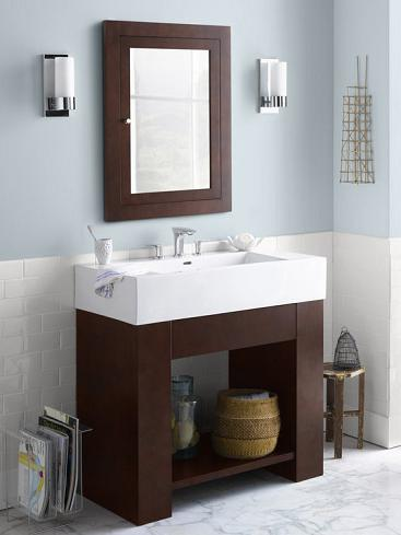 Zenia Wood Vanity Cabinet With Ceramic Sink And Counter From Ronbow