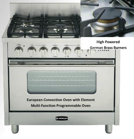 36 Inch Professional Kitchen Range From Verona Pro by EuroChef