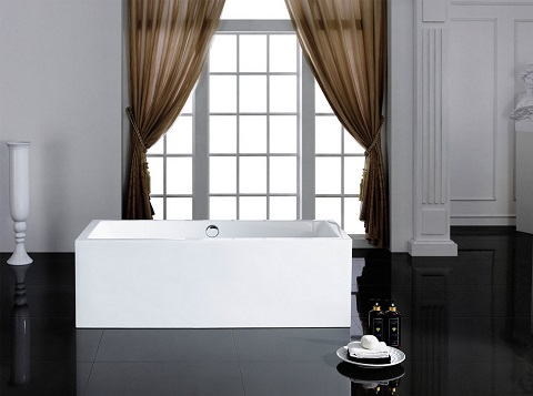 Caesar 60x31 Rectangular Soaking Tub PBT-CAESAR-6031-CR by Pacific Collection