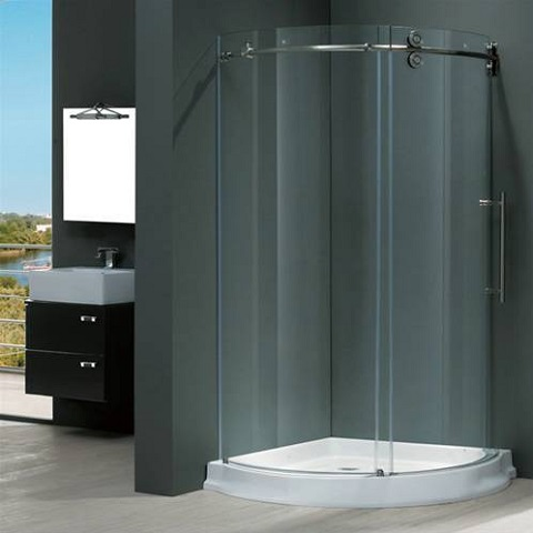 Clear Stainless Steel Shower Enclosure VG6031STCL40WR from Vigo Industries