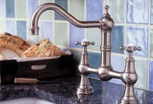 Double Handle Bridge Kitchen Faucet From Rohl's Perrin and Rowe Collection