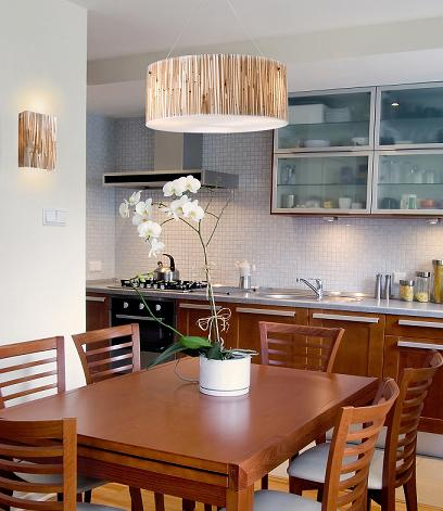 Modern Organics Bamboo Pendant And Sconce From Elk Lighting