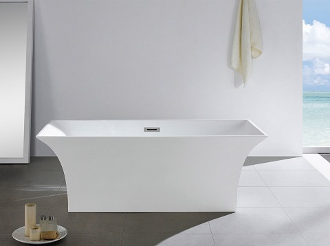 "Palazzo 66"" Soaking Bathtub PBT-PALAZZO-6631-CR by Pacific Collection"