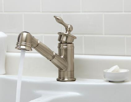 Prince Single Handle Pull Out Kitchen Faucet From Danze