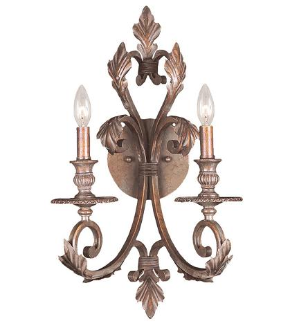 Royal Wall Sconce With Florentine Bronze Finish From Crystorama
