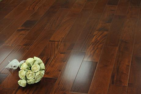 Teak Stained African Walnut Engineered Hardwood Flooring From Ferma