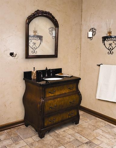 Walnut Bombe Chest Style Bathroom Vanity From Hardware Resources