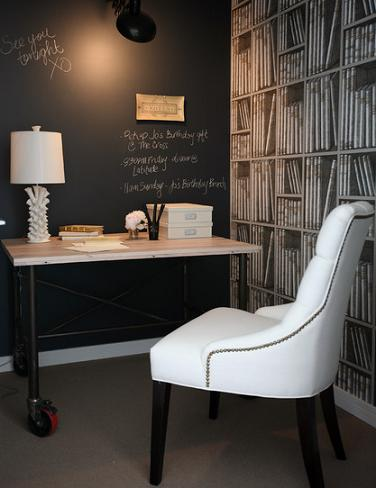 Chalkboard Accent Wall (by The Cross Design, photo by Janis Nicolay)