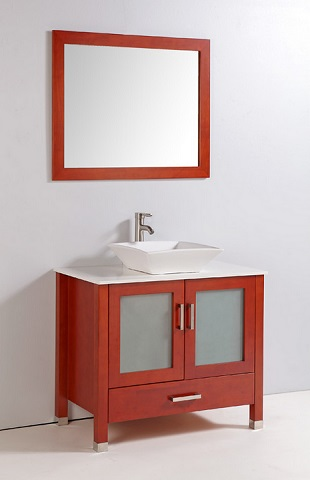 "Cherry 36"" Solid Wood Vanity WA3336CC from Legion Furniture"