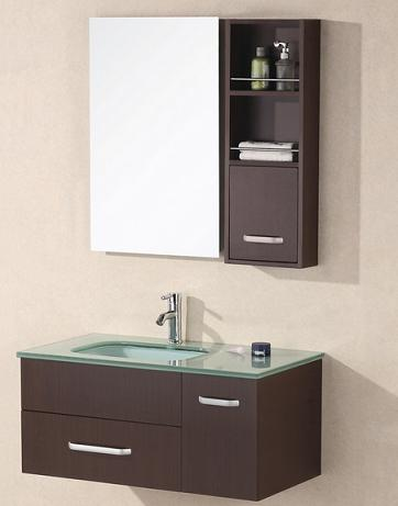 Christine Wall Mounted Sink With Storage Bathroom Mirror From Design Element