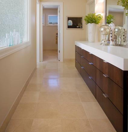 Crema Marfil Flooring (by Partners 4 Design)