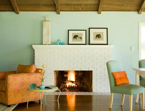 Fresh Mint Green Walls (by Mark English Architects AIA)
