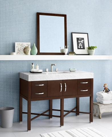 Haley Wood Vanity Cabinet From RonBow