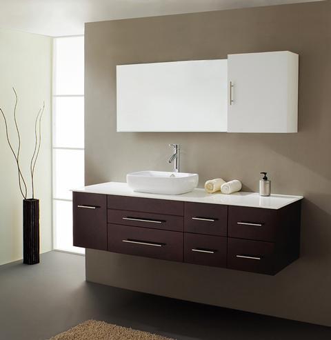 Justine Minimalist Rubberwood Bathroom Vanity From Virtu USA