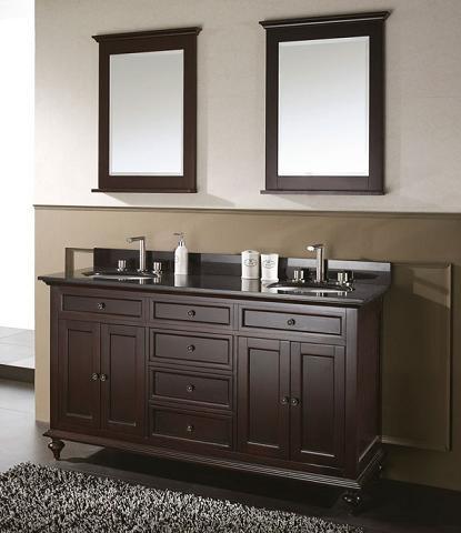 Merlot Transitional Bathroom Vanity From Avanity