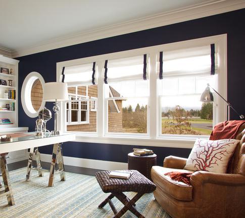 Navy Hamptons Style Study (by Garrison Hullinger Interior Design Inc)