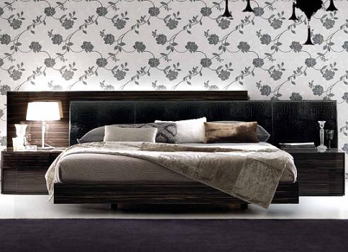 Nightfly Platform Bed In Ebony With Nightstands From Rossetto