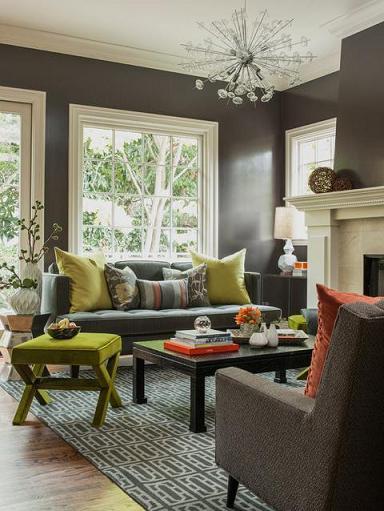 Slate Gray Living Room (by Ann Lowengart Interiors LLC)