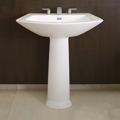 Soiree Modern Pedestal Sink From Toto