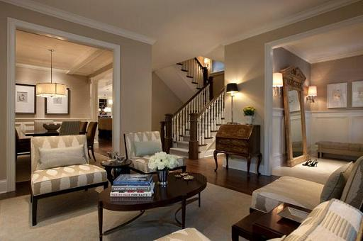 Taupe Living Room Design (by Michael Abrams Limited)
