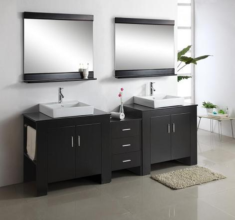 Tavian Double Vanity With Towel Bars From Virtu USA