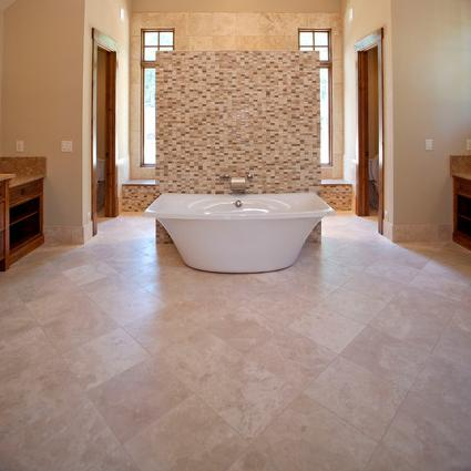 Travertine Tile Floors (by Michelle Tumlin Design)