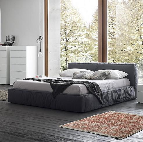 Twist Dark Grey Platform Bed From Rossetto