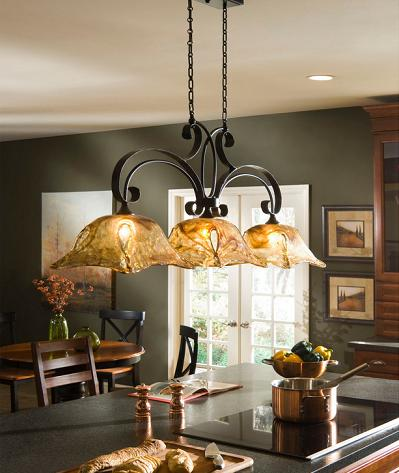 Vetraio 3 Light Kitchen Island Light From Uttermost