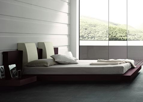 Win Floating Contemporary Bed From Rossetto