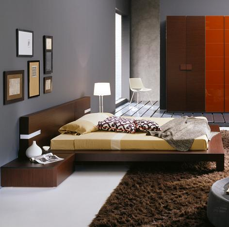 Win Wenge Bed With Built In Lights From Rossetto