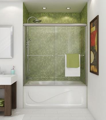 A Glass Shower Door Is A Great Way To Dress Up A Simple Shower Tub Enclosure - Especially If You Can Tile It As Well