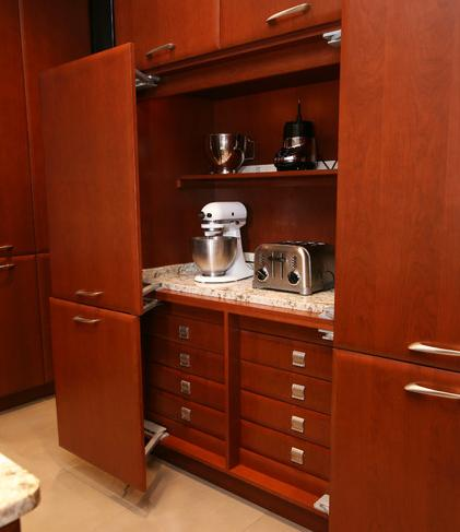 Appliance Storage Cabinets (by Tim Kriebel of Kriebel Design)