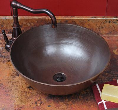 Aurora Copper Vessel Sink From Sierra Copper