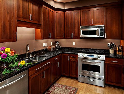 Cherry Shaker Style Kitchen Cabinets By Cliqstudios