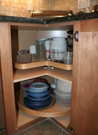 Corner Cabinet With Lazy Susan (by Mary Porzelt of Boston Kitchen Designs)