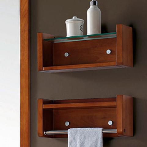 Cosmo Double Shelves With Towel Bar From Avanity