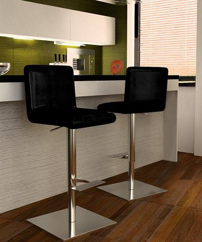 Georgio Bar Stools In Black From Bellini Modern Living