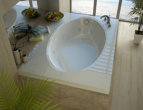 Grand Tour Viola 42x72 Rectangular Air And Whirlpool Jetted Bathtub VZ4272VDLX from Venzi