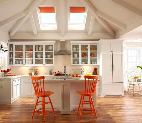 Kitchen Cabinets With Hidden Appliances (by VELUX)