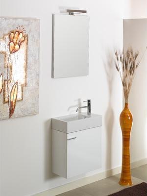 Lola Compact Wall Mounted Bathroom Vanity From Iotti
