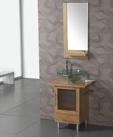Natural Pine Bathroom Vanity With Towel Bars From Legion Furniture