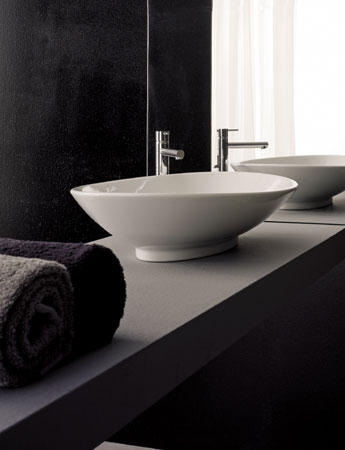 Neck Vitreous China Vessel Sink From Scarabeo